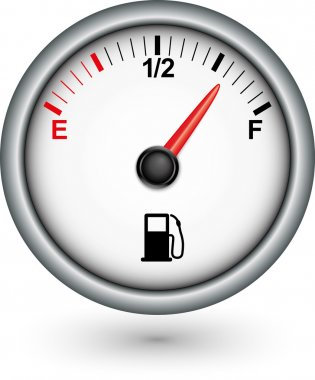 Car fuel gauge, vector illustration