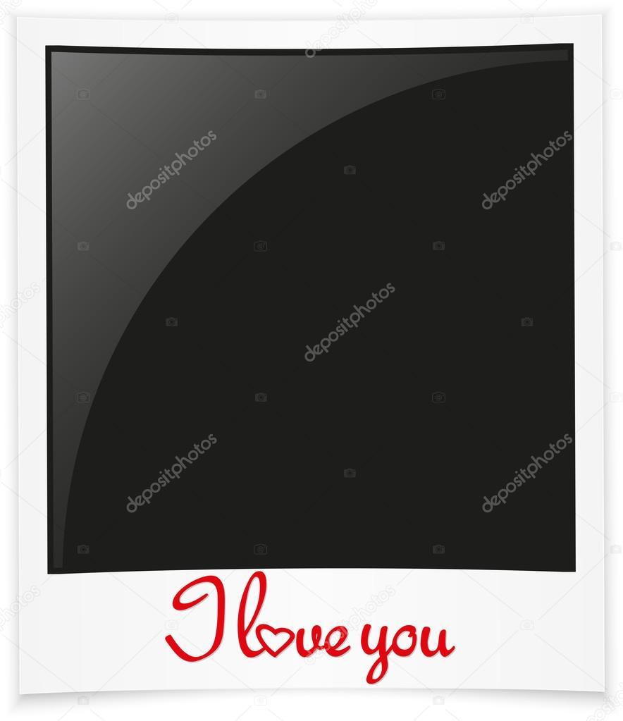 Ich liebe dich Fotorahmen, happy Valentinstag-Grußkarte, Vektor ...