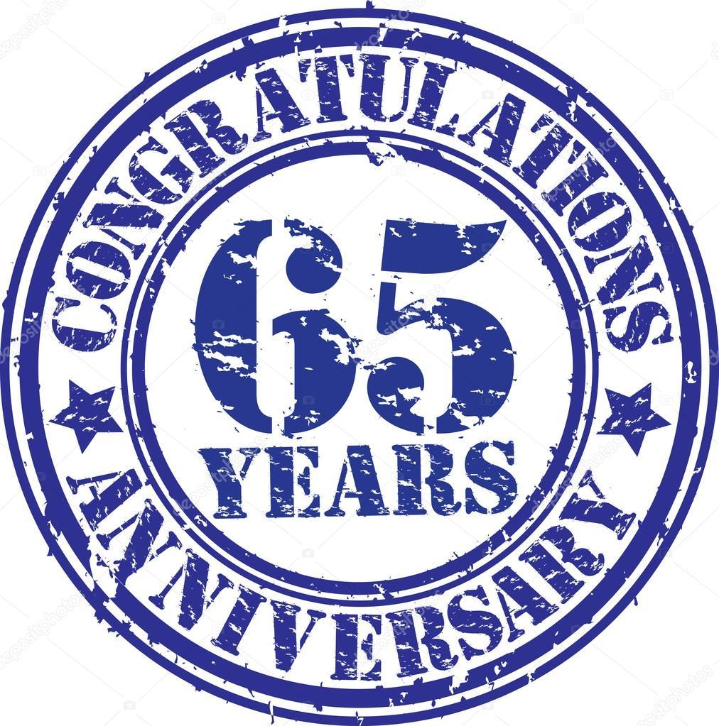 gefeliciteerd 65 Gefeliciteerd 65 jaar verjaardag grunge rubberstempel, vector  gefeliciteerd 65