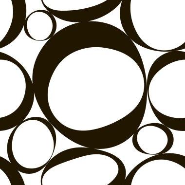 Seamless Monochrome Geometric Pattern