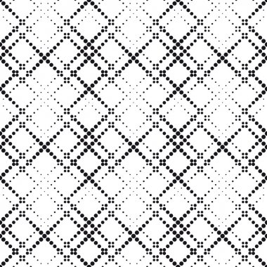 Seamlees Monochrome Geometric Background