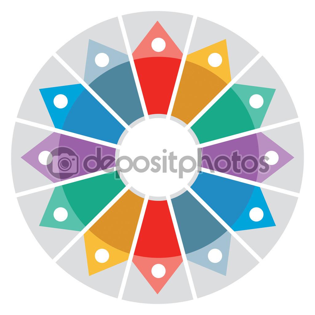 Color Wheel - Presentation template — Stock Vector © eltoro69 #47838889