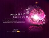 Vector háttér mirror ball és elmélkedés