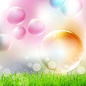Fotografia sfondo vettoriale con bolle colorate di volo