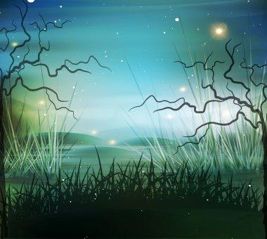 vector landscape, marsh