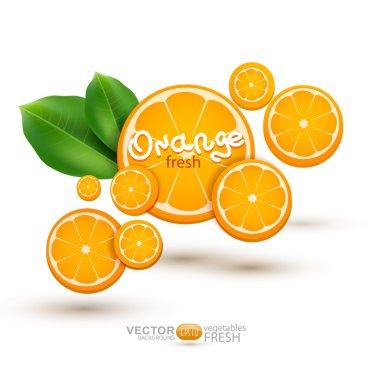Illustration with oranges