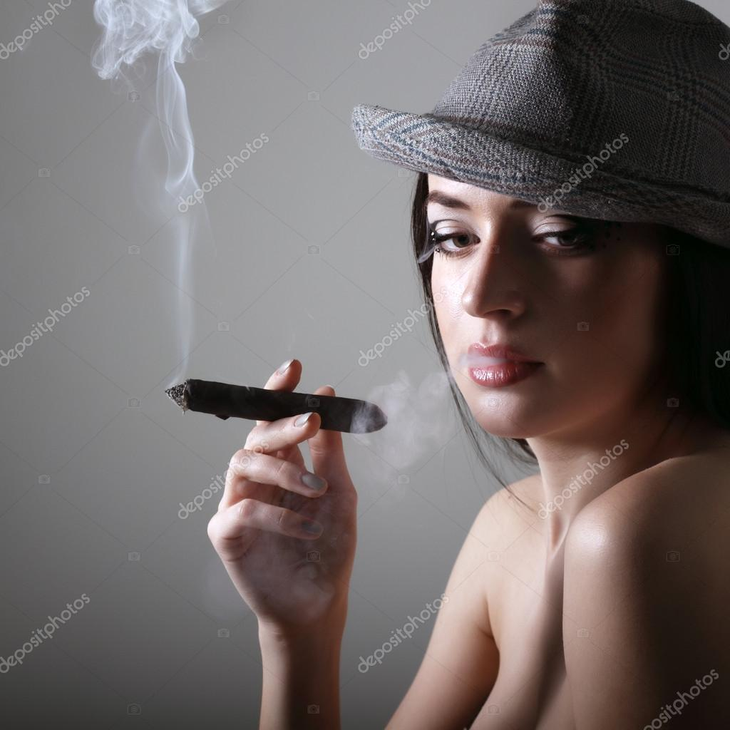 Sexy smoking cigar