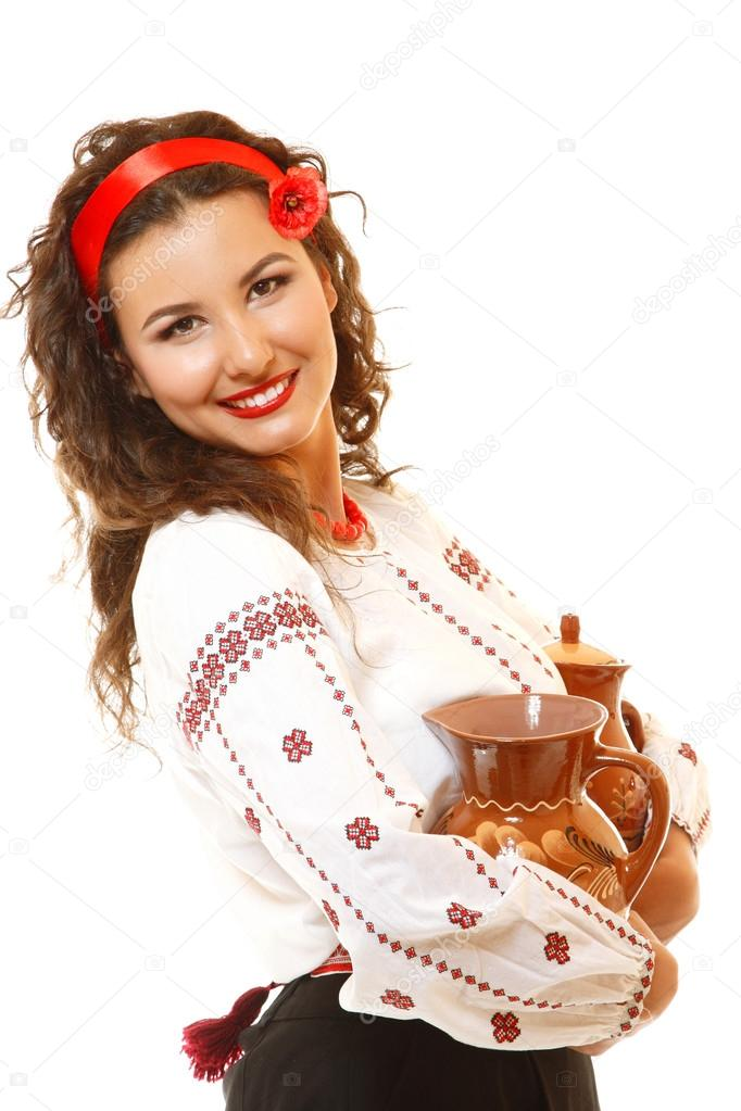 Ukrainian woman in native costume