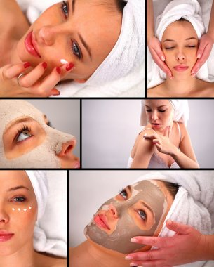 Spa treatment collage