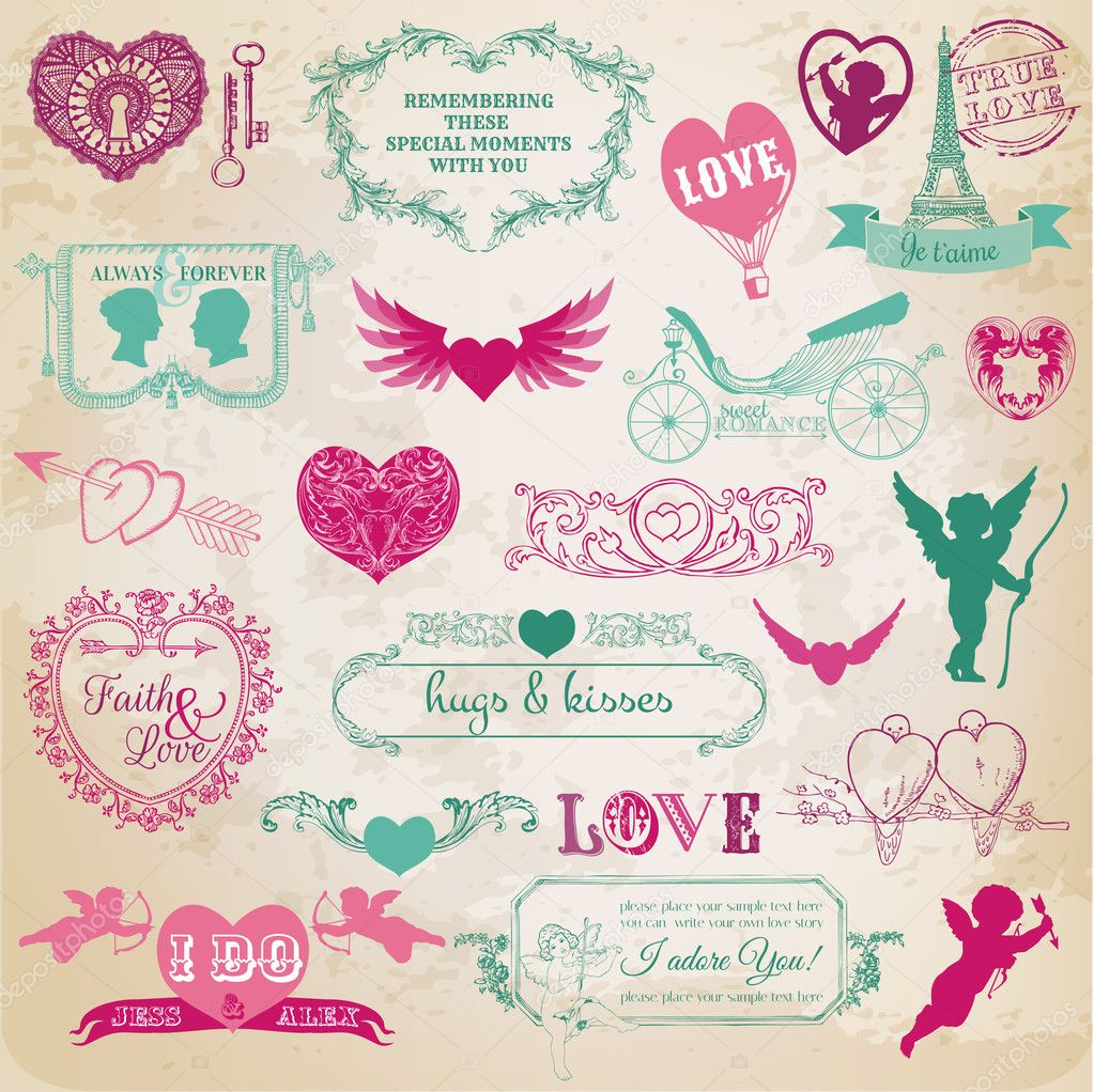 Design elements - Love set