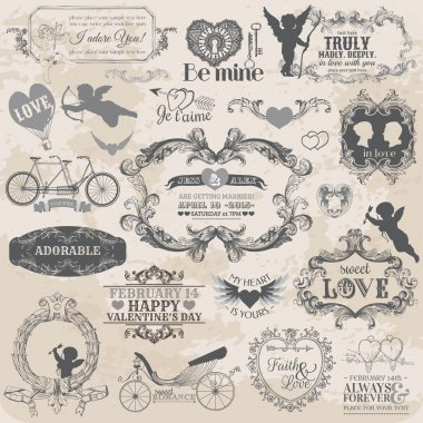 Scrapbook Design Elements - Vintage Valentine