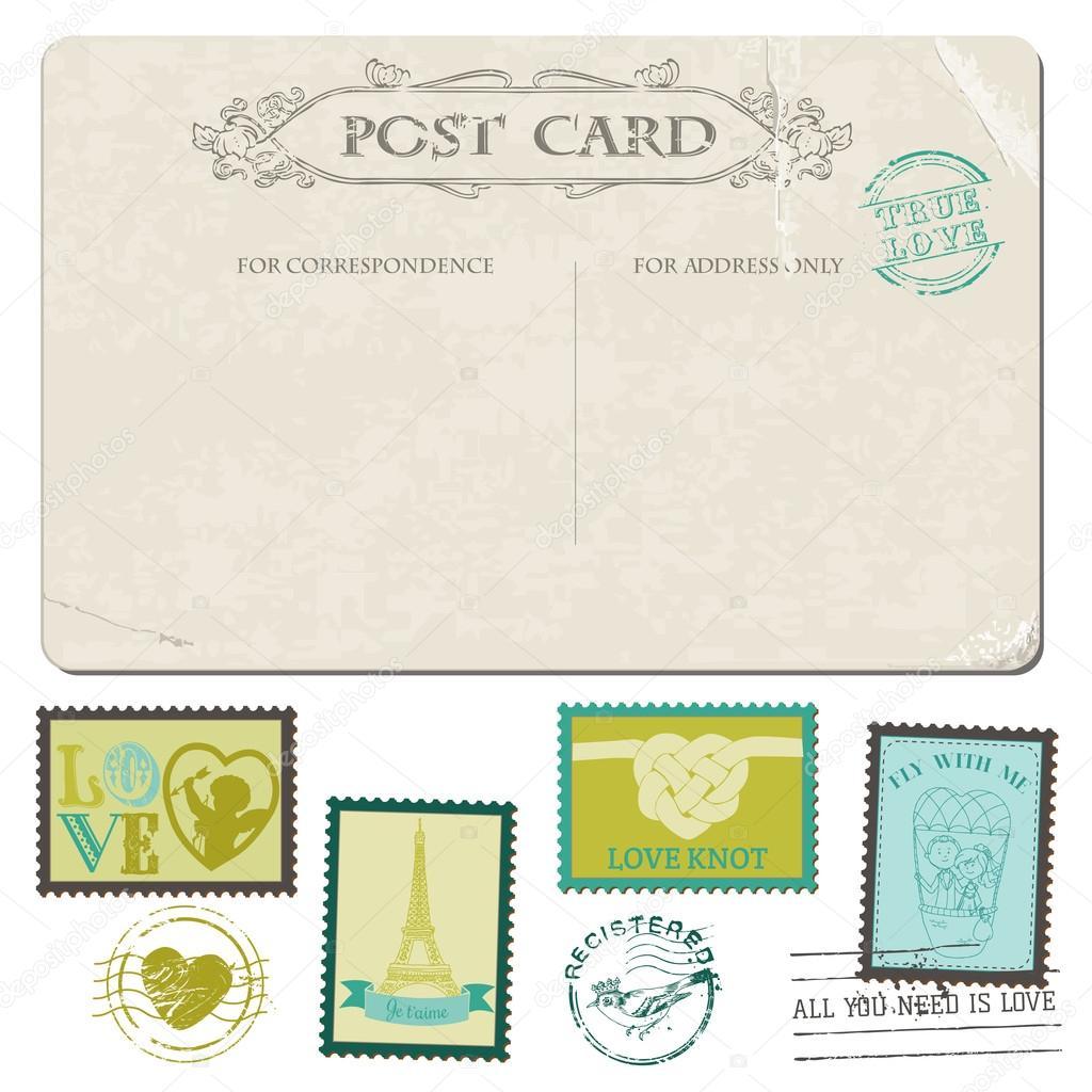 index wedding postage stamps Vintage Postcard and Postage Stamps for wedding design