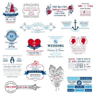Wedding Invitation Collection - for design, scrapbook - in vecto