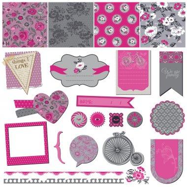 Seamless Vintage Flower Background Set- for design and scrapbook