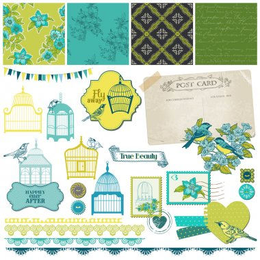 Birds and Birdcages Collection - for design or scrapbook