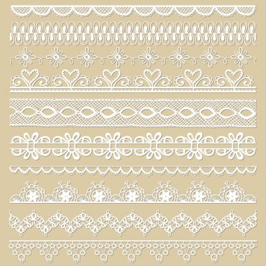 Set of lace ribbons - for design and scrapbook - in vector stock vector