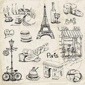 Paris Darstellung enthalten - für Design und Scrapbook - in Vektor
