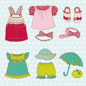 Photo Baby Girl Set - for design and scrapbook - in vector
