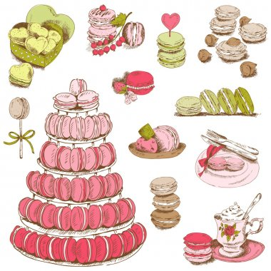 Macaroons and and Dessert Collection - for design and scrapbook