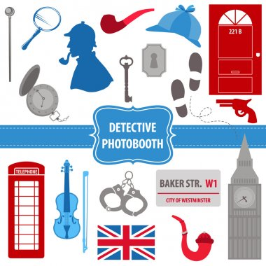 Detective Sherlock Party set - photobooth props
