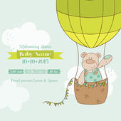 Photo Baby Shower Card - with Baby Bear - in vector