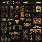 Art Deco Vintage rámce a prvky návrhu - ve vektoru