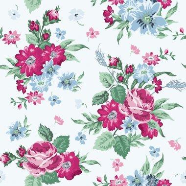"Картина, постер, плакат, фотообои ""Vintage Floral Background - seamless pattern for design"", артикул 51103029"