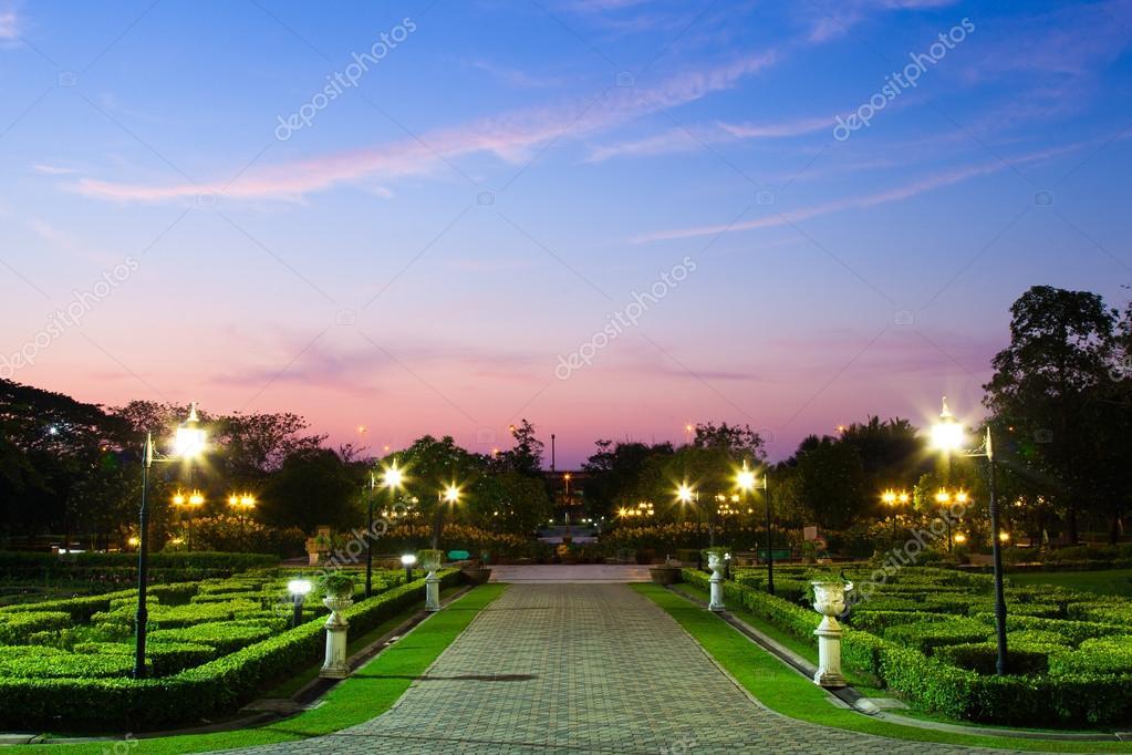 Park near dusk.