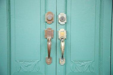 handle for opening the door.