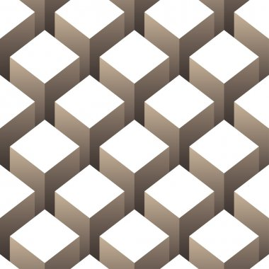 Boxes 3d seamless background illustration