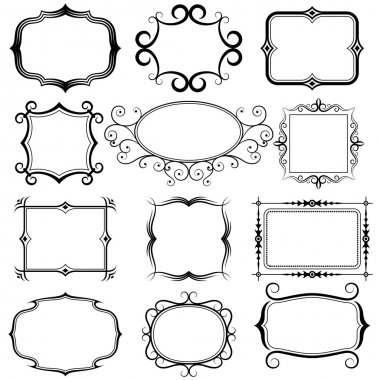 Ornate vector frames and ornaments