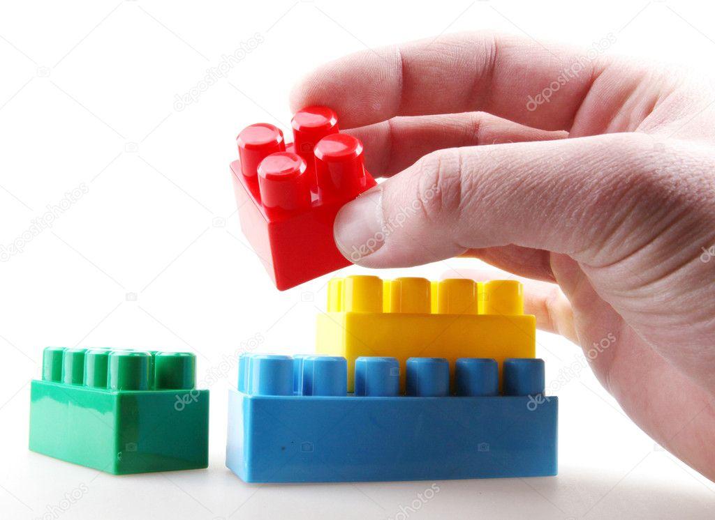 Plastic building blocks — Stock Photo © nenovbrothers #19601501