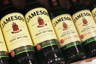 Various bottle of Jameson Irish Whiskey