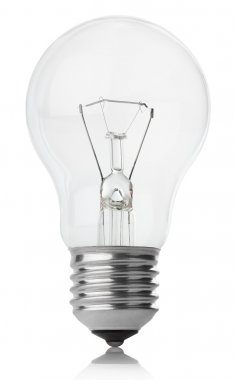 Incandescent lamp on white