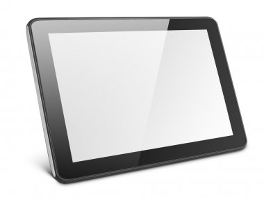 Modern tablet pc on white