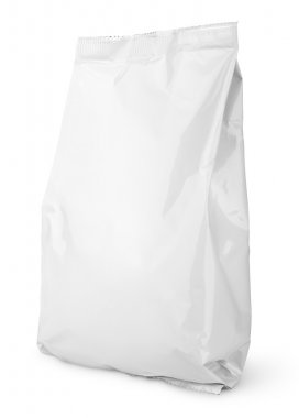 Blank Snack bag package isolated on white with clipping path stock vector