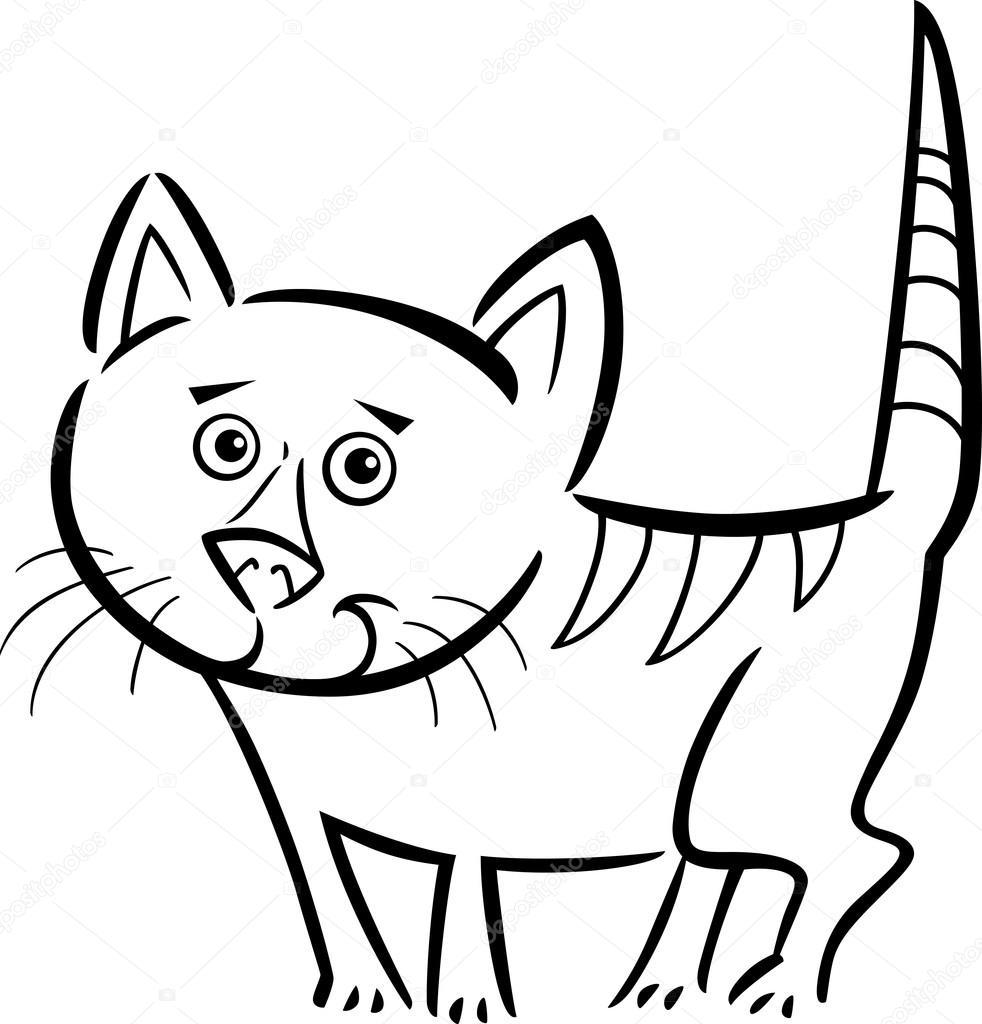 gato o gatito para colorear libro — Archivo Imágenes Vectoriales ...