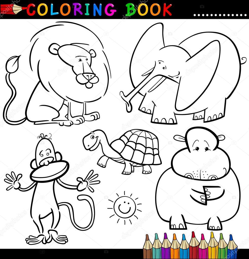 Boyama Kitaby Hayvanlar Resim Cizmek