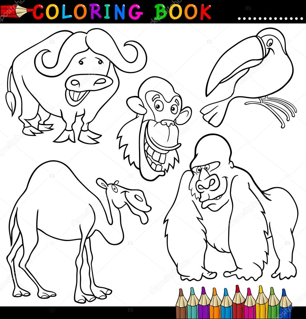 Animals For Coloring Book Or Page Stock Vector C Izakowski 12580962