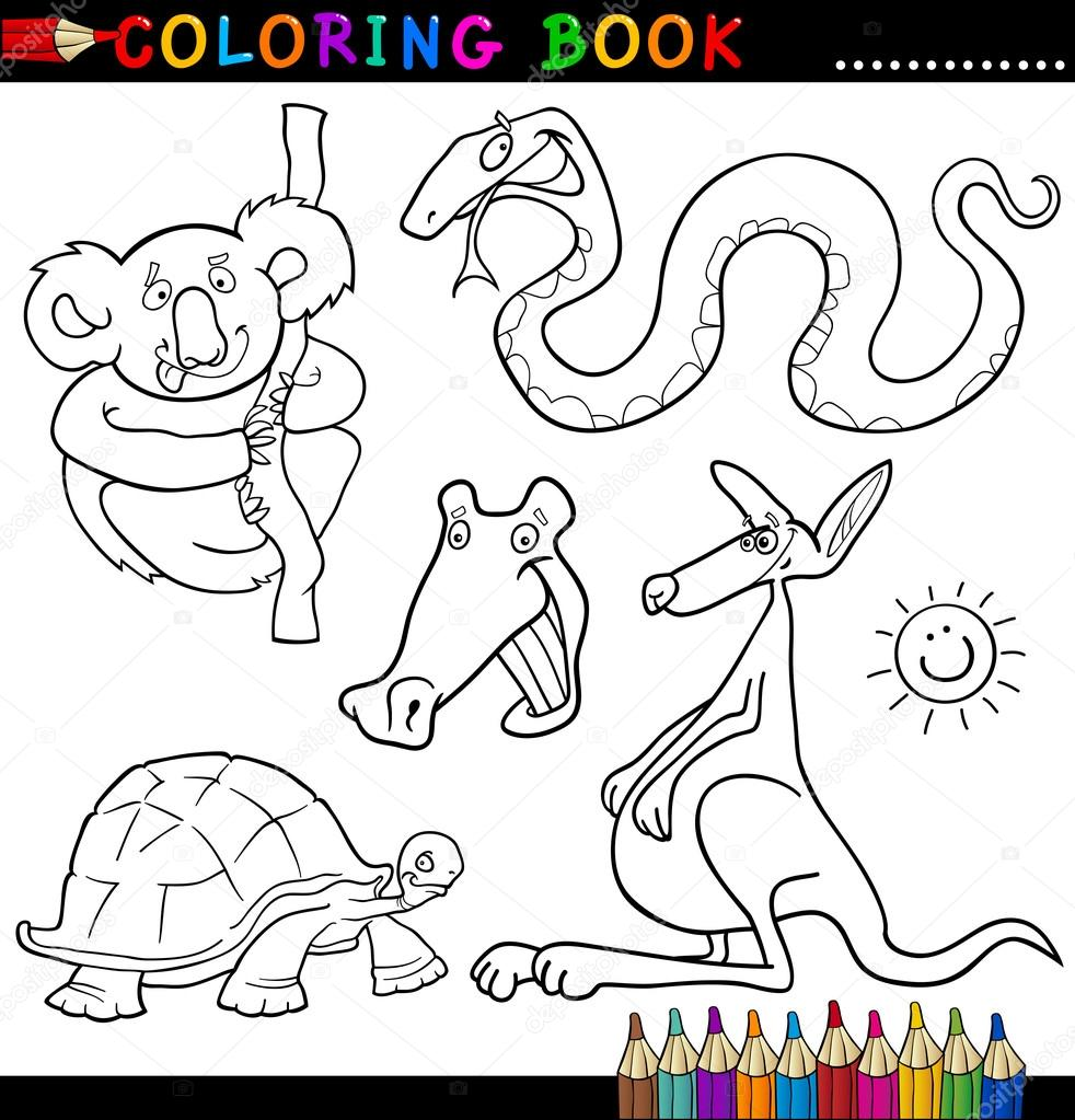 Animals For Coloring Book Or Page Stock Vector Izakowski 12580980