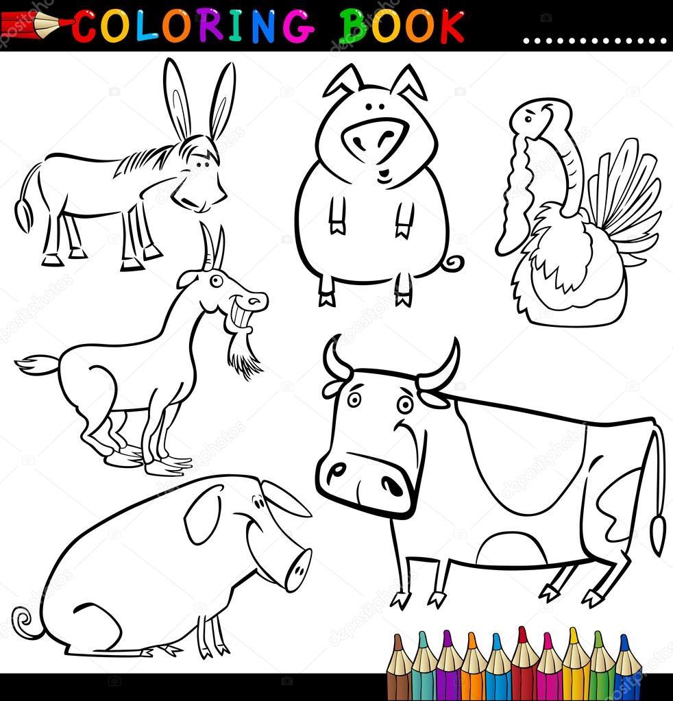 Objetos De La Granja Para Colorear Animales De Granja Para