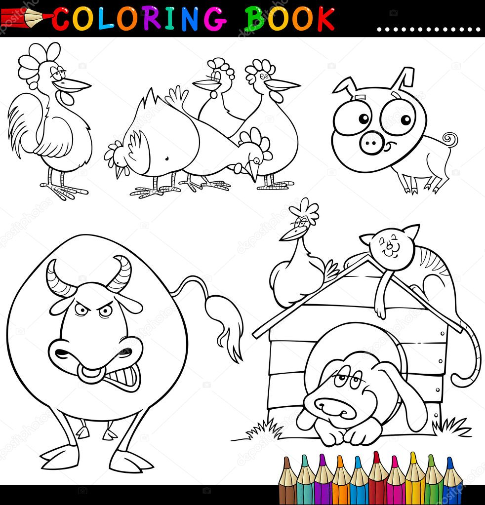 farm animal coloring book pdf