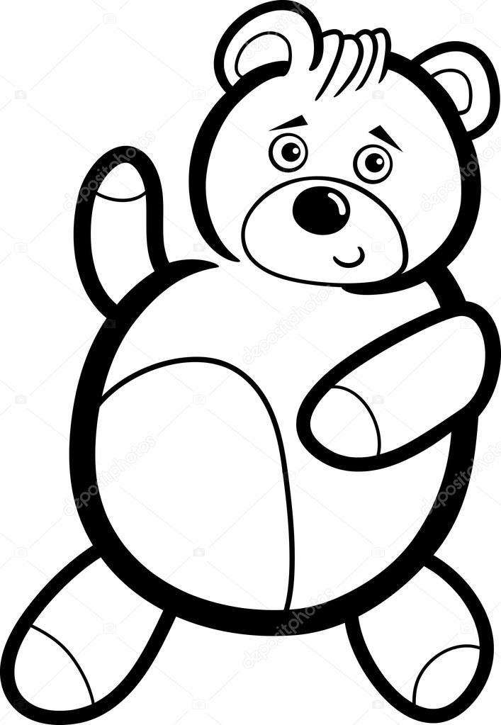Karikatür Ayıcık Boyama Stok Vektör Izakowski 13294274