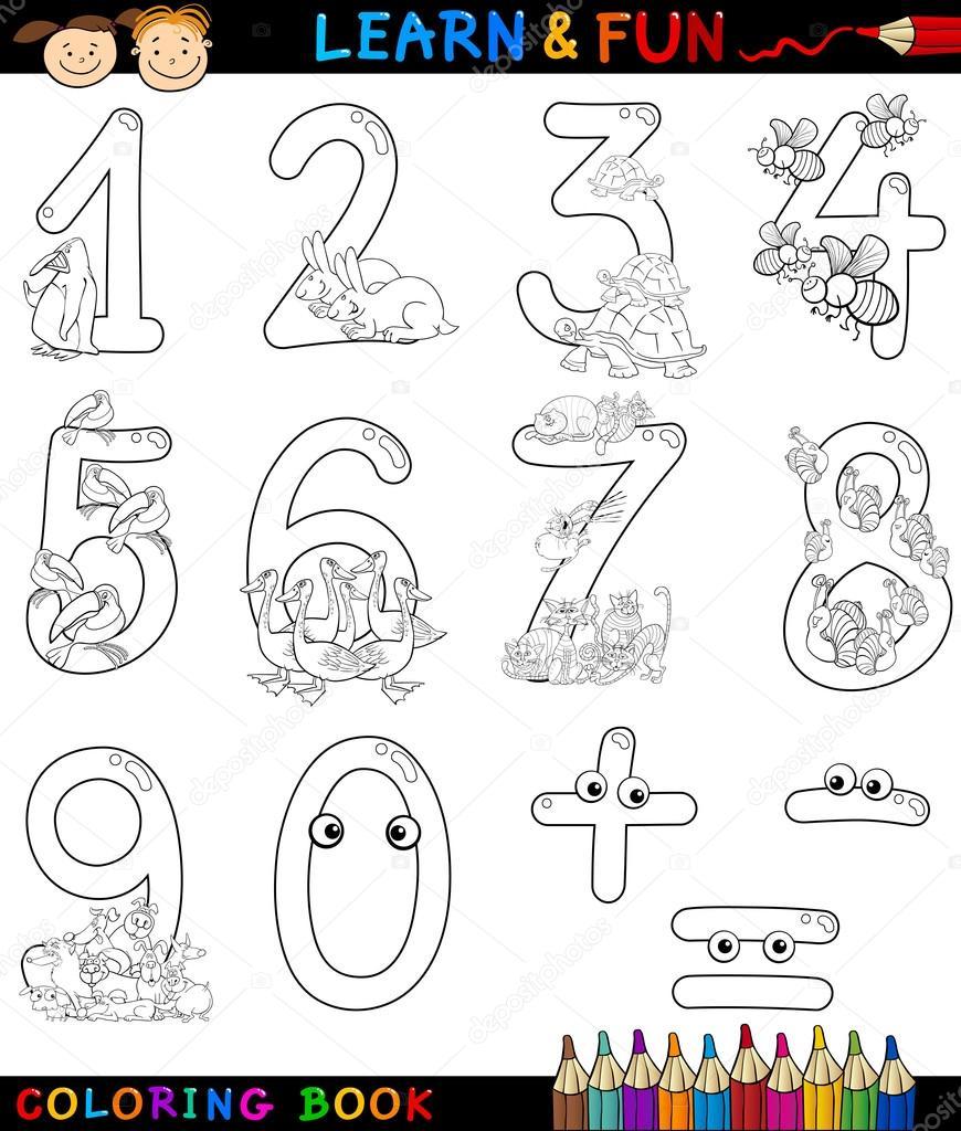Animado Numeros Para Colorear Animados Números Con Animales De