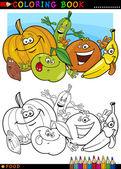 Fotografie Obst und Gemüse zum Ausmalen