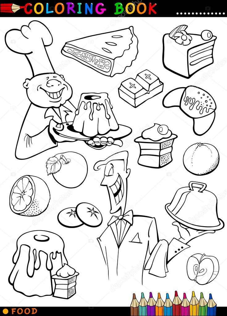 Dibujos: panes y pasteles para colorear | dulces y pasteles para ...