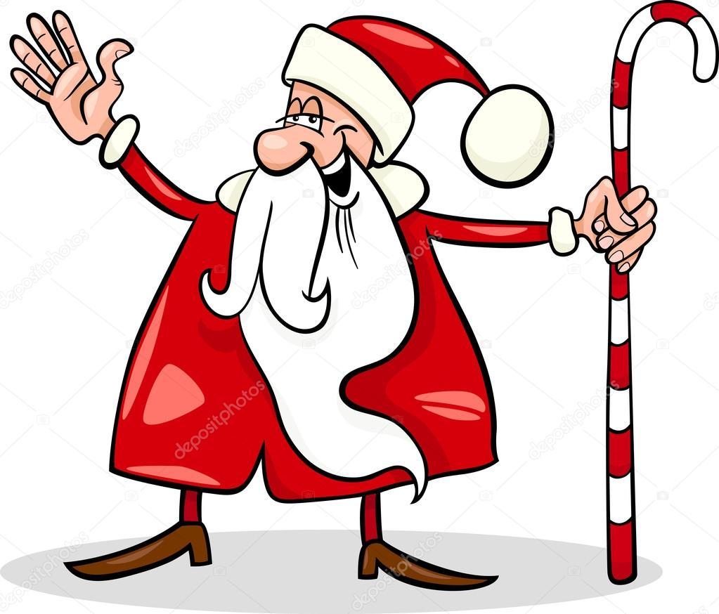 Weihnachtsmann Cartoon Weihnachten Abbildung Stockvektor