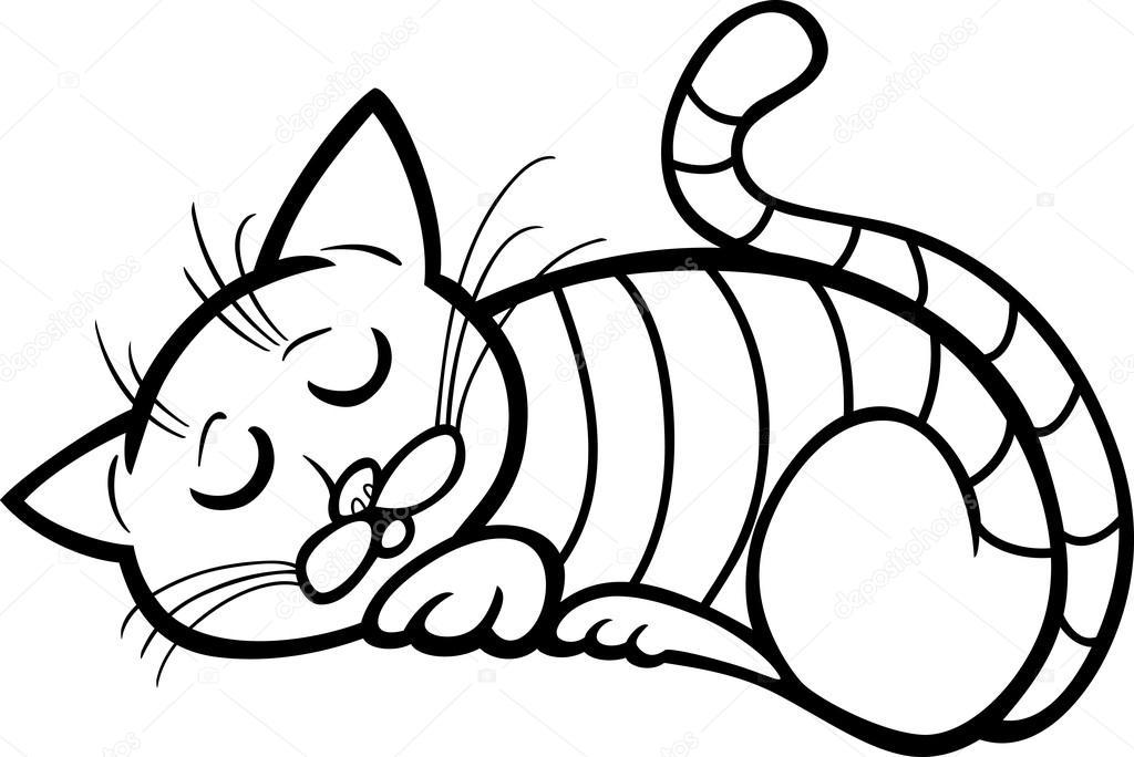 Imágenes Gatos Durmiendo Para Dibujar Dibujos Animados De Gato