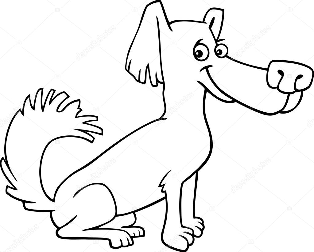 desenho de cachorrinho salsicha para livro de colorir vetor de