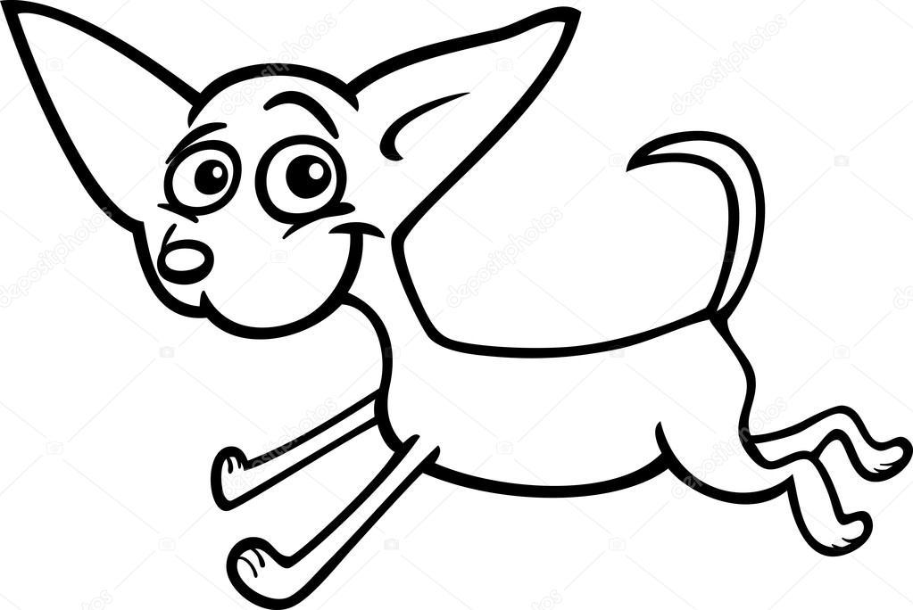 Cachorros chihuahua para colorear | corriente de dibujos animados de ...